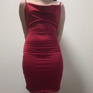Cowl Red Dress
